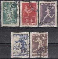 FINLANDIA 1945 Nº 282/286 USADO - Gebraucht
