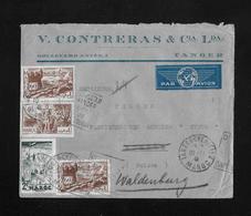 1941 Letter From Maroc (V.Contreras & Cia.Lda.Tanger) To Biel/Bienne   ►PAR AVION◄ - Cartas