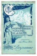 """PROGRAMME . THÉÂTRE LYRIQUE DE LA GAÎTÉ . """" BOCCACE """". Mme JANE ALSTEIN, M. CHADAL . FRANZ SUPPÉ - Réf. N° 17P - - Programmi"""
