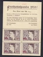 Dt. Reich Freiheitsspende 1933 - Briefe U. Dokumente