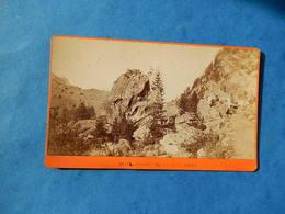 CDV PHOTO CARTE VISITE  PASSAGE TETE NOIR LE TRIENT   SUISSE CHARNAUX ALBUMEN  PHOTOGRAPHE Trois Rois - Anciennes (Av. 1900)