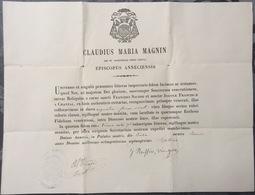 1877 Certificat De Reliquaire Relique - Religione & Esoterismo
