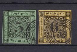 Baden - 1853/54 - Michel Nr. 6/7 - Gest. - 45 Euro - Baden