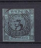 Baden - 1858 - Michel Nr. 8 - Gest. - 40 Euro - Baden
