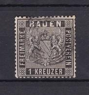 Baden - 1860 - Michel Nr. 9 - Gest. - 30 Euro - Baden