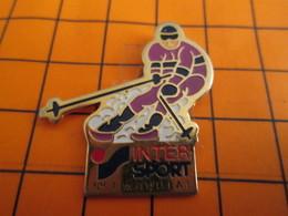 0120 PINS PIN'S / Beau Et Rare : Thème SPORTS / SPORTS D'HIVER SKI INTER SPORT N°1 MONDIAL - Wintersport