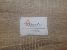 Carte De Visite De Restaurant Grec  Les Diamantaires   Paris 9eme - Cartoncini Da Visita