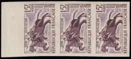 FRANCE   ** 1172 Bande De 3 Essais En Violet, Bdf: Tapisserie De Bayeux, Cavaliers - Essais