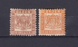 Baden - 1862/66 - Michel Nr. 20+22 - Ungebr. - 23 Euro - Baden