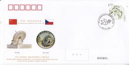 CHINA 2019 PFTN-WJ2019-7 70th Diplomatic Relation With The Czech Republic Commemorative Cover - 1949 - ... République Populaire