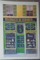 Petit Calendrier Poche 2001 Illustration échope Boutique Pharmacie Du Bonheur - Kalenders