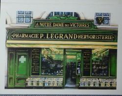 Petit Calendrier Poche 2001 Illustration échope Boutique Pharmacie Herboristerie - Kalenders