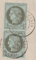 CIRCULAIRE CONSTANTINOPLE TARIF MAISON CARLINOZ & SALZANI. PAIRE N° 50. TARIF à 2c - 1849-1876: Période Classique
