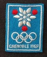 ECUSSON TISSU - GRENOBLE 1968 - Jeux Olympiques ... - Patches