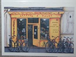 Petit Calendrier Poche 2005 Illustration échope Boutique Vélos Hollandais Jouets En Bois - Kalenders