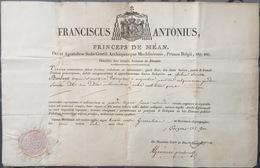 1823 Certificat De Reliquaire Relique - Religion & Esotericism