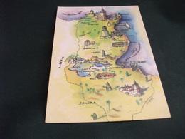 CARTA GEOGRAFICA MAP OF TUNISIE TUNISIA - Carte Geografiche