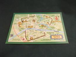 CARTA GEOGRAFICA MAP YORK  RIVER OUSE  STEMMA U.K. - Carte Geografiche