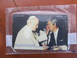 Private Issued Chip Phonecard,An Audience With The Pope John Paul II,mint In Blister,100 Or 200 Pcs Issued - Korea (Süd)