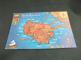 CARTA GEOGRAFICA MAP MONTE ARGENTARIO STEMMA - Carte Geografiche