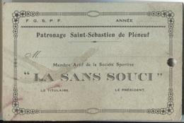 PLENEUF VAL-ANDRE - Carte De Membre - Patronage St Sébastien  ... - Mappe