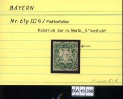 AD Bayern , 61 III , PLF / Abart - Siehe Foto - Bayern