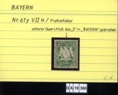 AD Bayern , 61 VII , PLF / Abart - Siehe Foto - Bavière