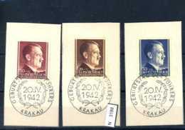 Deutsches Reich, O, Generalgouvernement, 89 - 91 Mit SST Krakau - Ocupación 1938 – 45