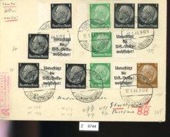 Deutsches Reich, Brief Aus Gebrauchspost Mit Zusammendruck: W 91, W 92, W 73, W 74 - Se-Tenant
