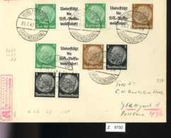 Deutsches Reich, Brief Aus Gebrauchspost Mit Zusammendruck: W 73, W 74, W 77 - Se-Tenant