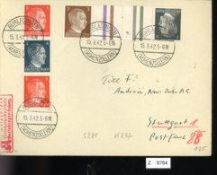 Deutsches Reich, Brief Aus Gebrauchspost Mit Zusammendruck: S 281, KZ 37 - Zusammendrucke