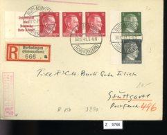 Deutsches Reich, Brief Aus Gebrauchspost Mit Zusammendruck: W 156, S 270 - Zusammendrucke