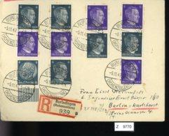 Deutsches Reich, Brief Aus Gebrauchspost Mit Zusammendruck: S 290, S 291, S 292, S 293 - Se-Tenant