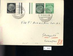 Deutsches Reich, Briefstück Aus Gebrauchspost Mit Zusammendruck: KZ 35 - Zusammendrucke