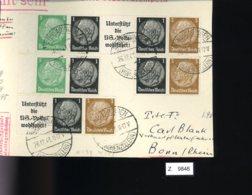 Deutsches Reich, Briefstück Aus Gebrauchspost Mit Zusammendruck: W 59, W 93, W 59, W 95, W 94 - Zusammendrucke
