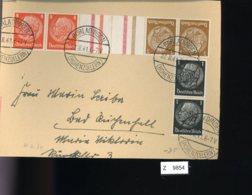 Deutsches Reich, Briefstück Aus Gebrauchspost Mit Zusammendruck: KZ 34 - Zusammendrucke