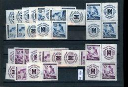 DR, Böhmen Und Mähren, Xx, X, A5 Steckkarte Mit Zahlreichen Zusammendruckvarianten - Neufs