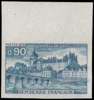 FRANCE   ** 1758 Essai En Bleu, Bdf: Chateau De Gien, Pont - Essais