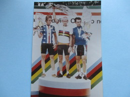 Cyclisme Photo Podiom Championnat Du Monde 1985 - Cyclisme