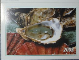 Petit Calendrier Poche 2003 Coquillage Huitre Coquille St Jacques - Kalenders