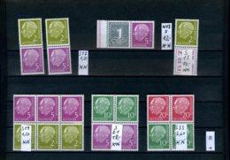Bundesrepublik, Xx,x,o, Sammlung Auf A5 - Karte Gesteckt, Heuss ZDs - BRD