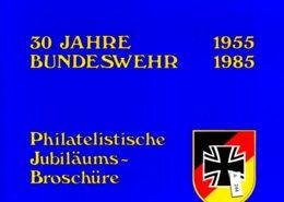 Bundesrepublik, Jubiläumsbroschüre 30 Jahre Bundeswehr 1985 Mit Belegen - BRD