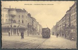 TRAM - CP De BRUXELLES - Centre Boulevard Maurice Lemonnier Ligne 83 Tram N°287 Reliant Les Boulevards Centraux   - 1502 - Nahverkehr, Oberirdisch