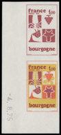 FRANCE   ** 1848 Paire D'essais En Brun + Polychrome, Cdf 4/8/75: Bourgogne, Raisin, Vache - Probedrucke