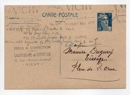 - Carte Postale TISSUS & CONFECTION SAUTEREAU Et TRONCHE, VICHY Pour TISSAGES DUGUEY, FLERS 2.7.1948 - - Standard Postcards & Stamped On Demand (before 1995)