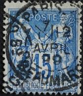 -Sage N° 90 Type Ll.( CAD )   O PARIS BD BEAUMARCHAIS 12 AVRIL 1899. - 1876-1898 Sage (Type II)