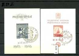 Tschechoslowakei, 14 Lose U.a. Postkarte Mit SST Und 221 - 226 Auf Rückseite Mit SST - Tschechoslowakei/CSSR