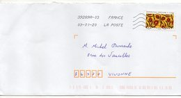 """2019-- Tp  Adhésif  """" Tissu --Inspiration Africaine  """"  Seul Sur Lettre- - Marcophilie (Lettres)"""