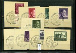 Sammlung Auf A5-Karte, Deutsches Reich GG Und B+M, Briefstücke, Teilweise  SST - Ocupación 1938 – 45