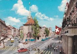 CP Suisse VD Vaud Lausanne Place De La Palud Hôtel De Ville Fontaine De La Justice - VD Waadt